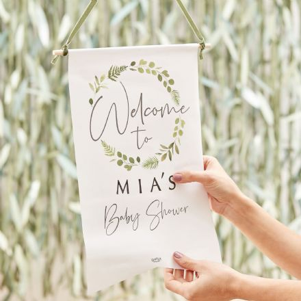 Botanical Baby, Baby Shower Welcome Sign, Personalise